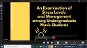 An Examination of Stress Levels and Management among Undergraduate Music Students