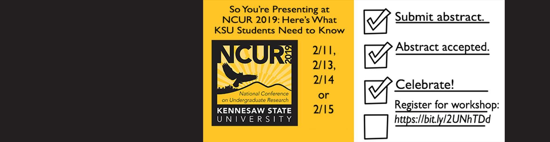 NCUR workshop for KSU presenters