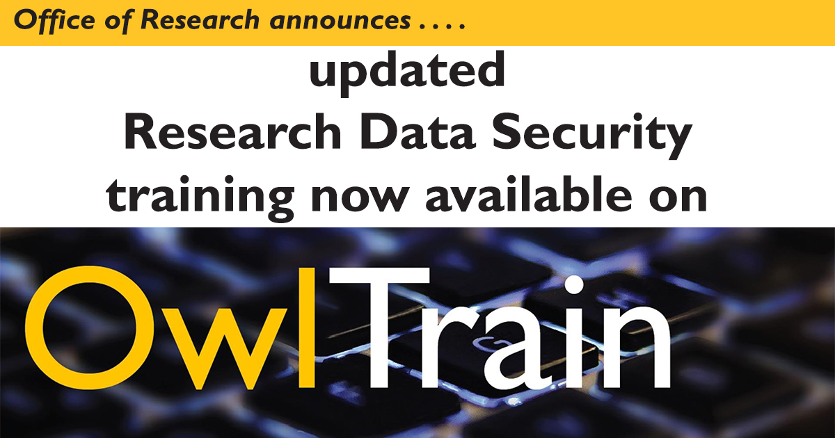 Research Data Security Training